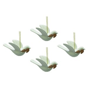 Peace Dove Ornament (Set of 4)