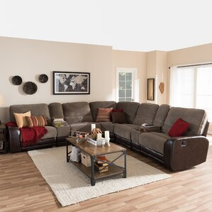 Baxton Studio Reclining Sectional by Wholesale Interiors