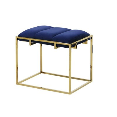 Keithley Glamorous Accent Stool Mercer41 Seat Color: Blue