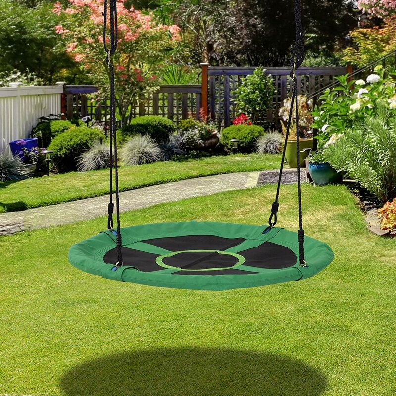 Homcom Round Outdoor Flying Saucer Disc Tree Swing