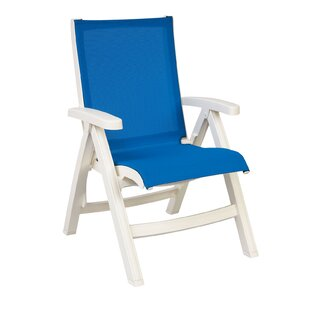 Elodie Midback Folding Sling Patio Chair (Set Of 2)
