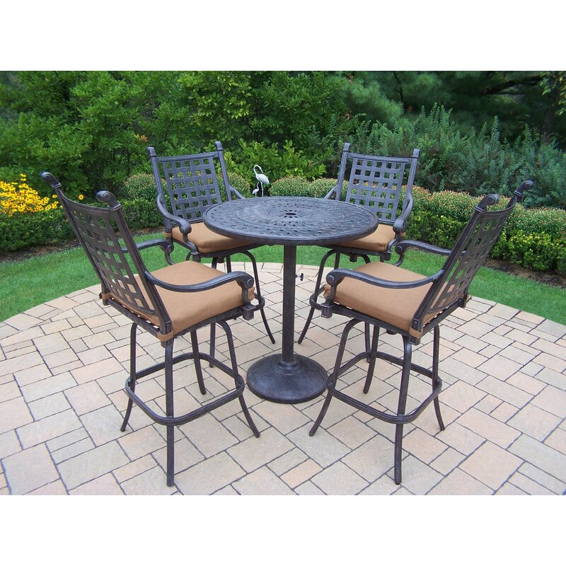 5 Piece Belmont Dining Room Collection: Darby Home Co Vandyne 5 Piece Bar Height Dining Set With