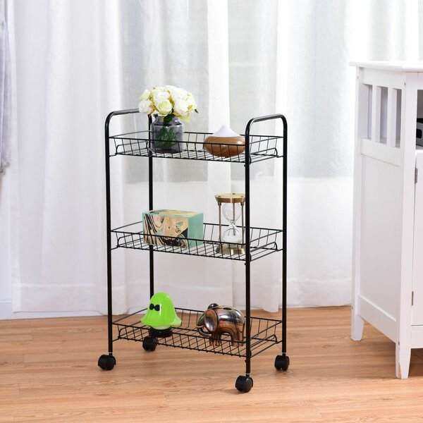 3 Tier Basket Storage On Stand Wayfair