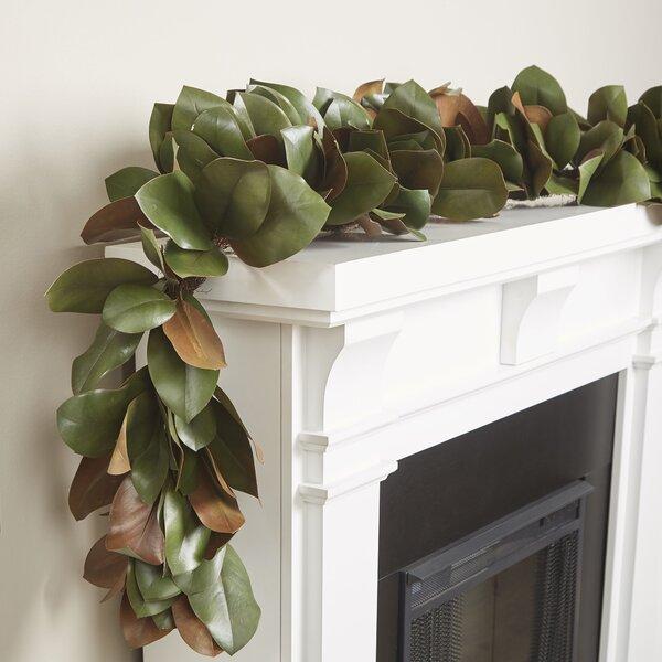Dinah Faux Magnolia Leaf Garland Amp Reviews Joss Amp Main