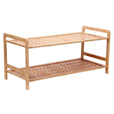2 tier 8 pair shoe rack