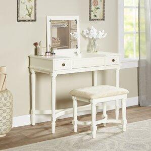 White Bedroom Vanities bedroom & makeup vanities | joss & main