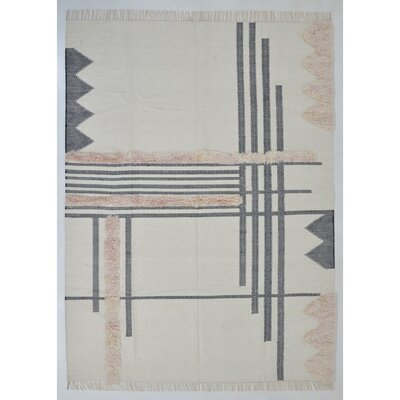 Union Rustic Christenson Handwoven Wool Charcoal Area Rug Rug Size: Rectangle 8' x 10'