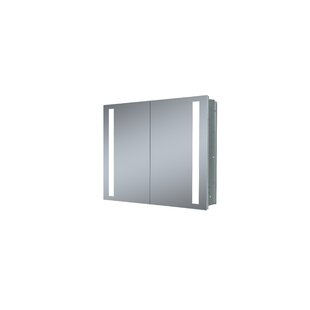 40 W X 26 H Recessed Led Medicine Cabinet With Lighting