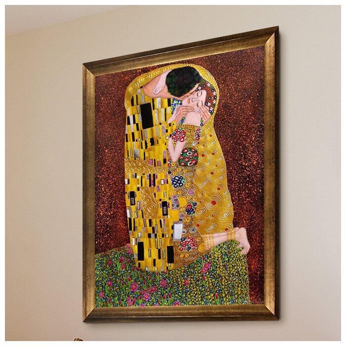 Awesome Klimt The Kiss Framed Pattern - Picture Frame Design ...