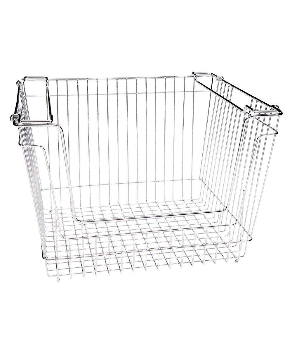 Simplify Stackable Extra Large Storage Wire Basket U0026 Reviews | Wayfair