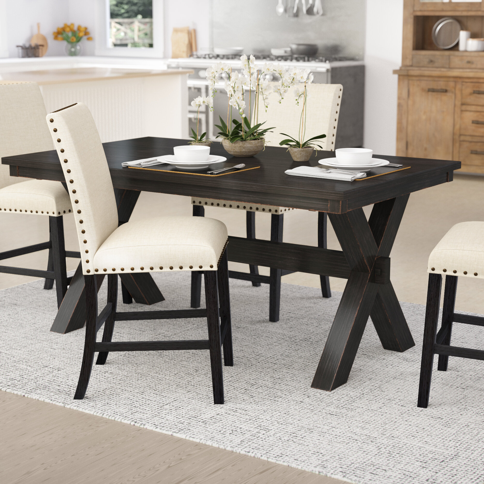 Laurel Foundry Modern Farmhouse Manitou Transitional Dining Table Reviews