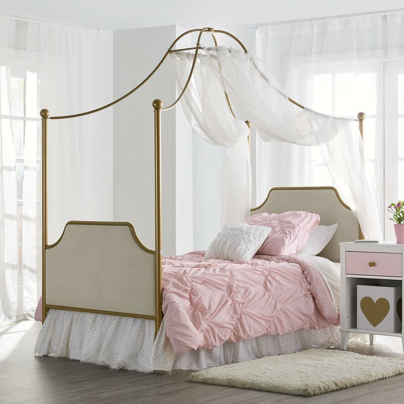 Monarch Hill Clementine Twin Canopy Bed