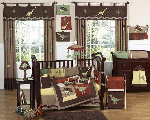Dinosaur Land 9 Piece Crib Bedding Set