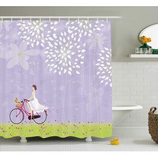 Attractive Bicycle Shower Curtain | Wayfair NV52