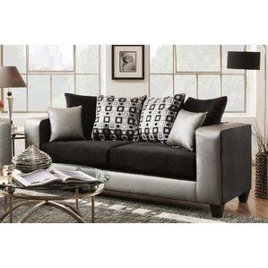 Rockleigh Shimmer Silver Sofa by Latitude Run