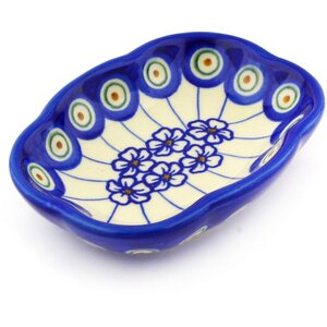 Flowering Peacock Soap Dish