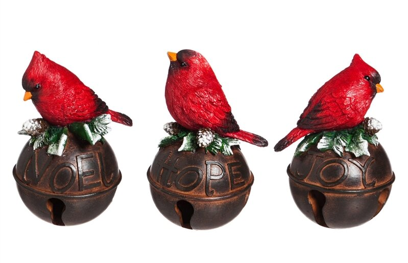 2e1fd817 3 Piece Cardinal on Bell Décor Set