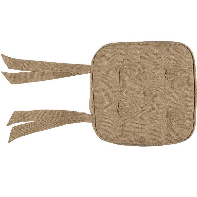 Burlap Dining Chair Cushion