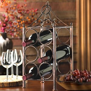 6 bottle tabletop wine rack - Metal Wine Rack