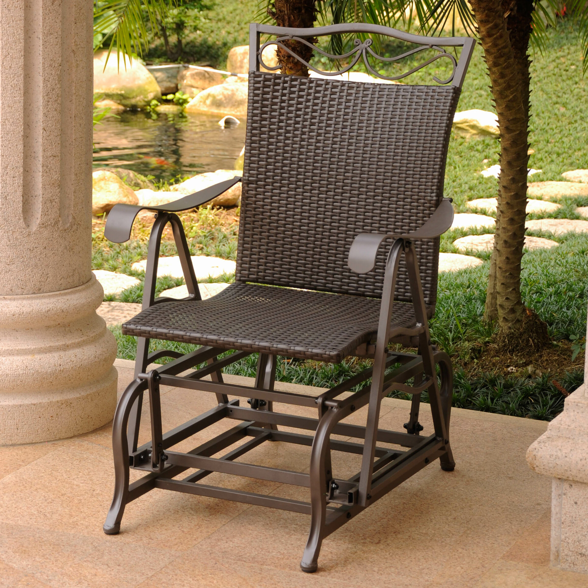 Three Posts Meetinghouse Patio Glider Chair & Reviews
