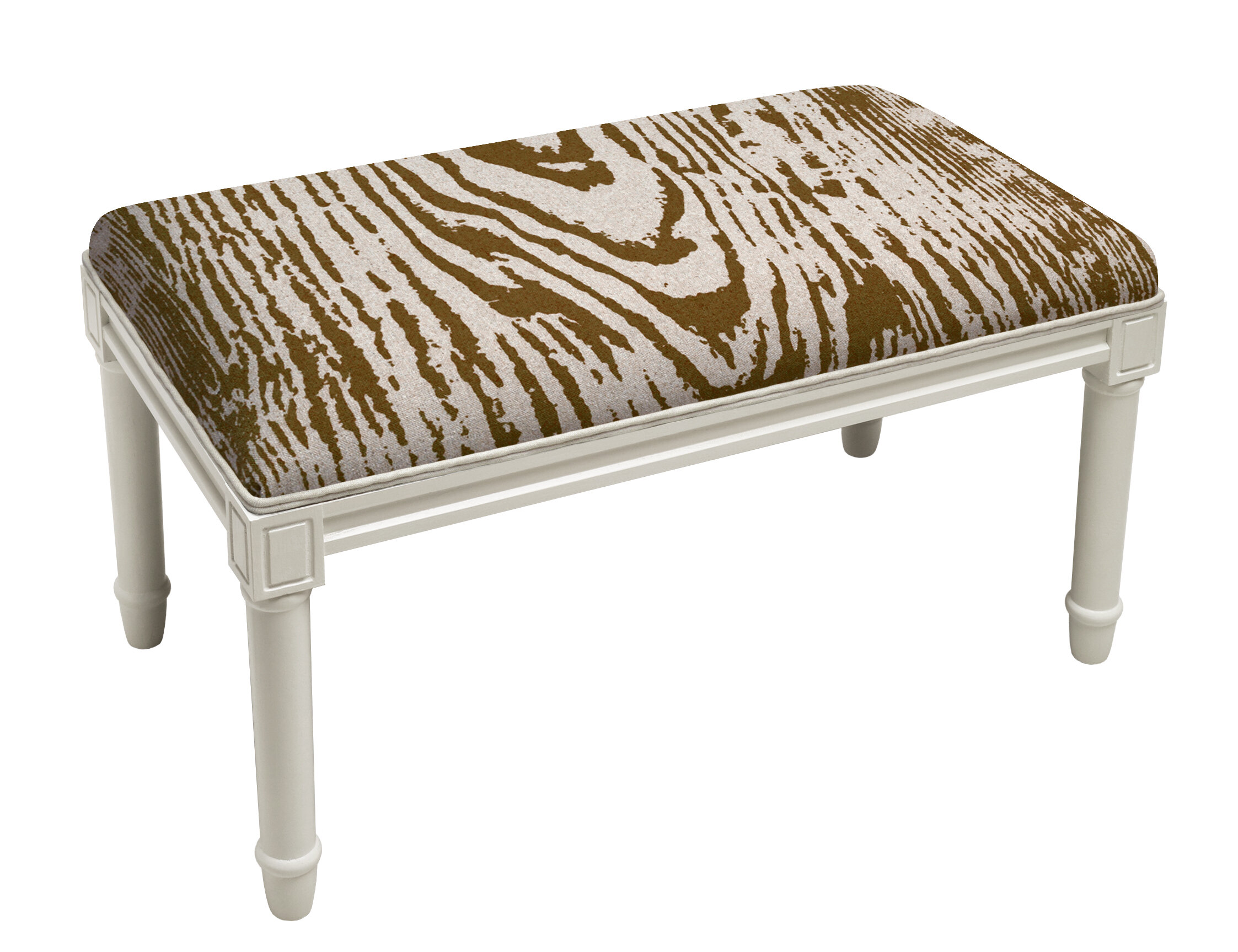 Bloomsbury Market Poirier Faux Bois Wood Bench | Wayfair