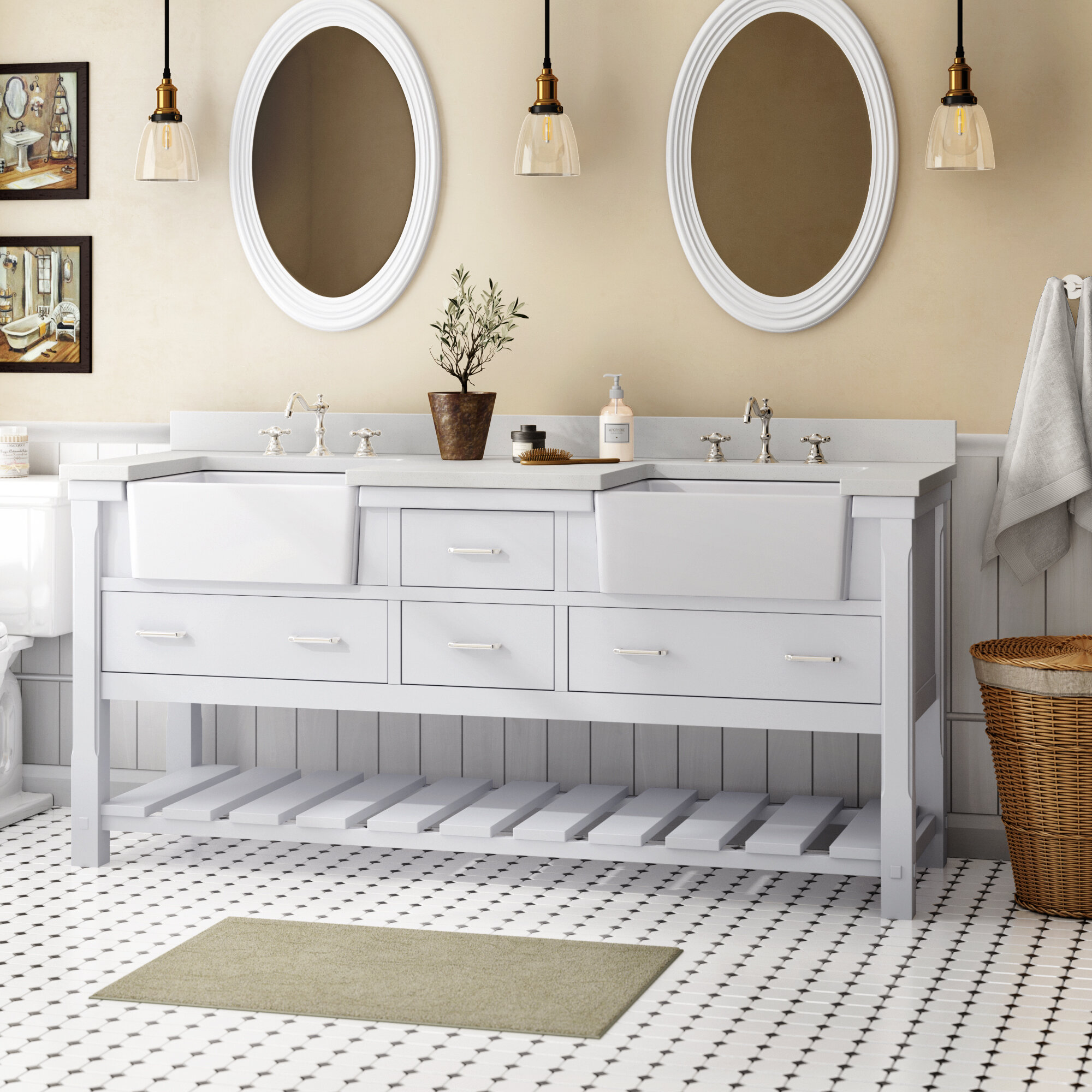 Groovy Find The Perfect 72 Inch Vanities Wayfair Interior Design Ideas Gentotryabchikinfo