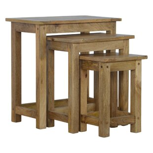 Solid Wood 3 Piece Decorative Stool Set by Hazelwood Home