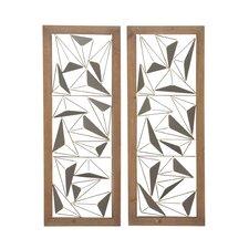 Wood Metal Wall Decor modern cole & grey wall accents | allmodern