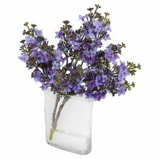 Artificial lavender wayfair faux lavender lilac floral arrangement in decorative vase mightylinksfo