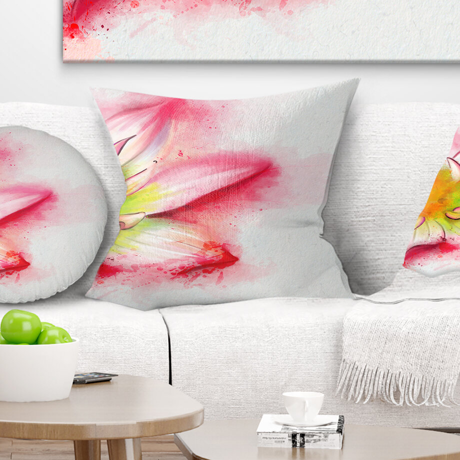 East Urban Home Floral Beautiful Flower Painting Pillow Wayfair