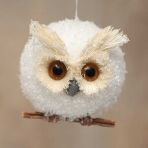 Iced Owl Ornament