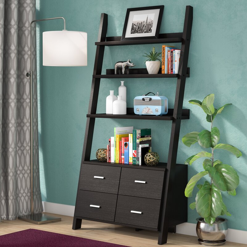 with item bookcase white drawer description ladder drawers library