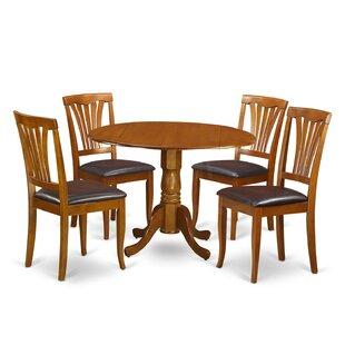 Spruill 5 Piece Drop Leaf Solid Wood Dining Set Savings