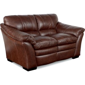 Burton Leather Loveseat by La-Z-Boy