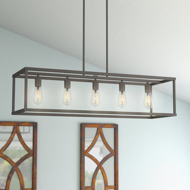 Laurel foundry modern farmhouse cassie 5 light kitchen for Modern island pendant lighting
