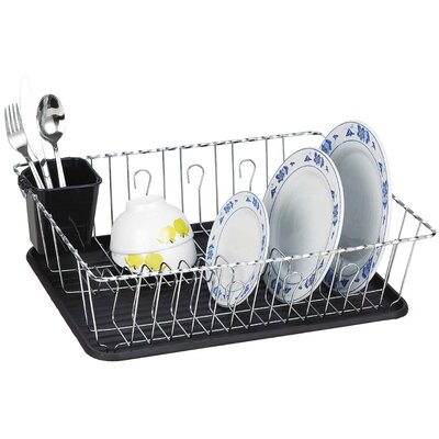 Twist Wire Large Dish Rack AmericanDream Finish: Black