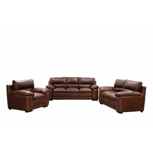 Madchen Leather 3 Piece Living Room Set by Darby Home Co