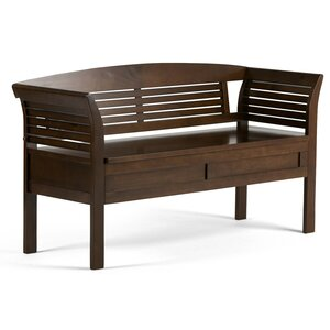 Arlington Wood Storage Bench