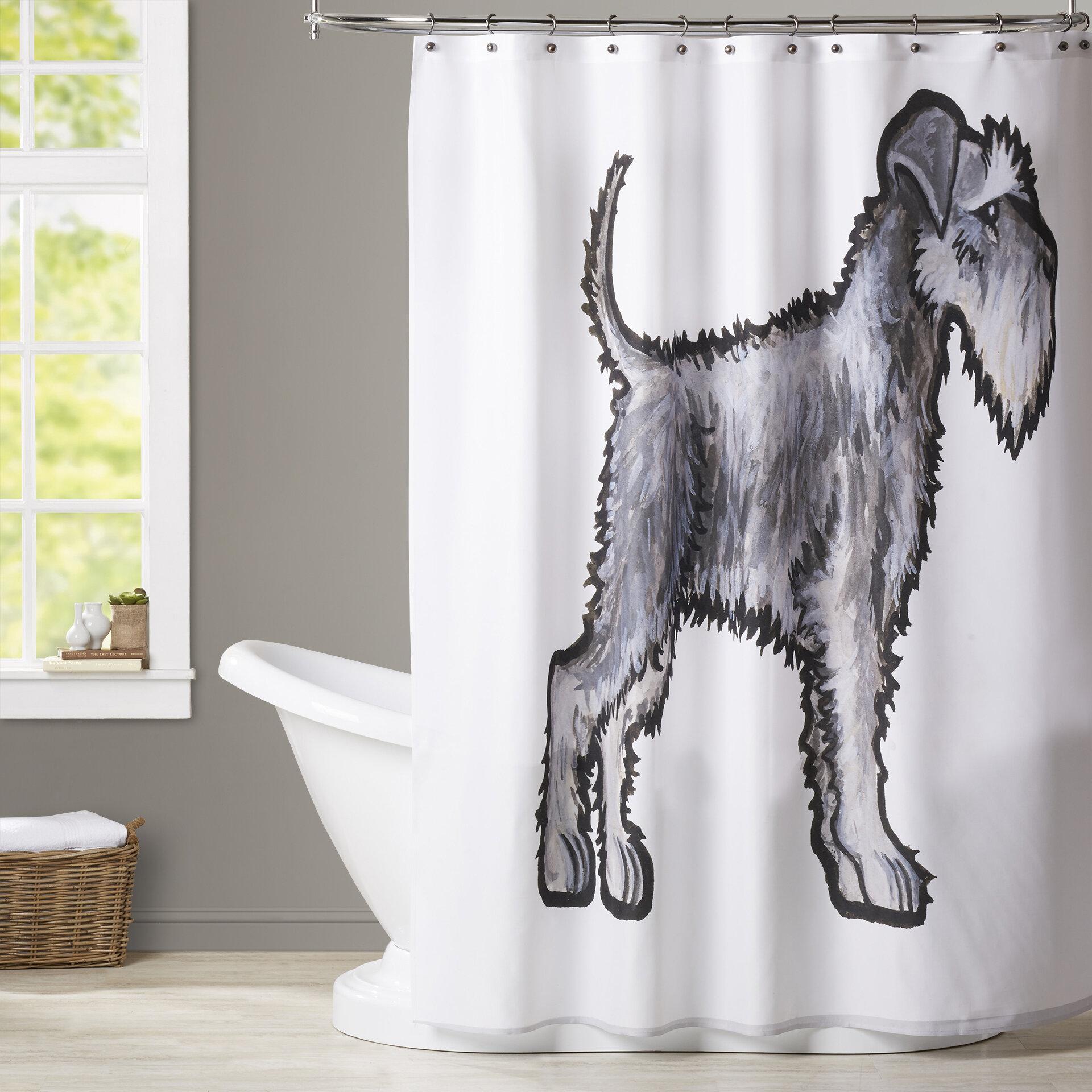 Brayden Studio Brott Schnauzer Shower Curtain