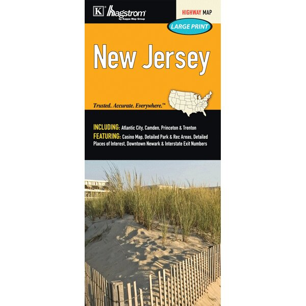 Universal Map New Jersey Large Print Fold Map Reviews Wayfair