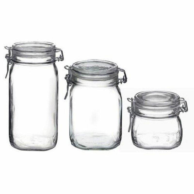 Fido 3 Piece Storage Jar Set