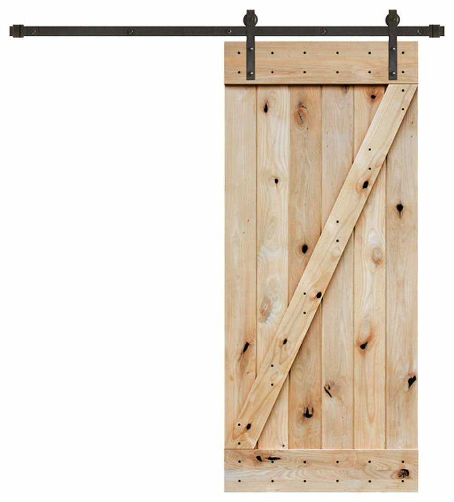 Calhome Wood Interior Barn Door Amp Reviews Wayfair