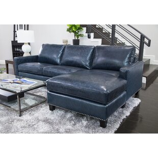 Chaise Sofa Leather Sectionals You\'ll Love | Wayfair