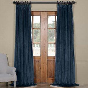 Riverton Plush Velvet 100% Polyester Single Curtain Panel