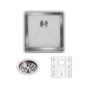 Crosstown 19 X Under Mount Kitchen Sink With Grid And Drain Embly