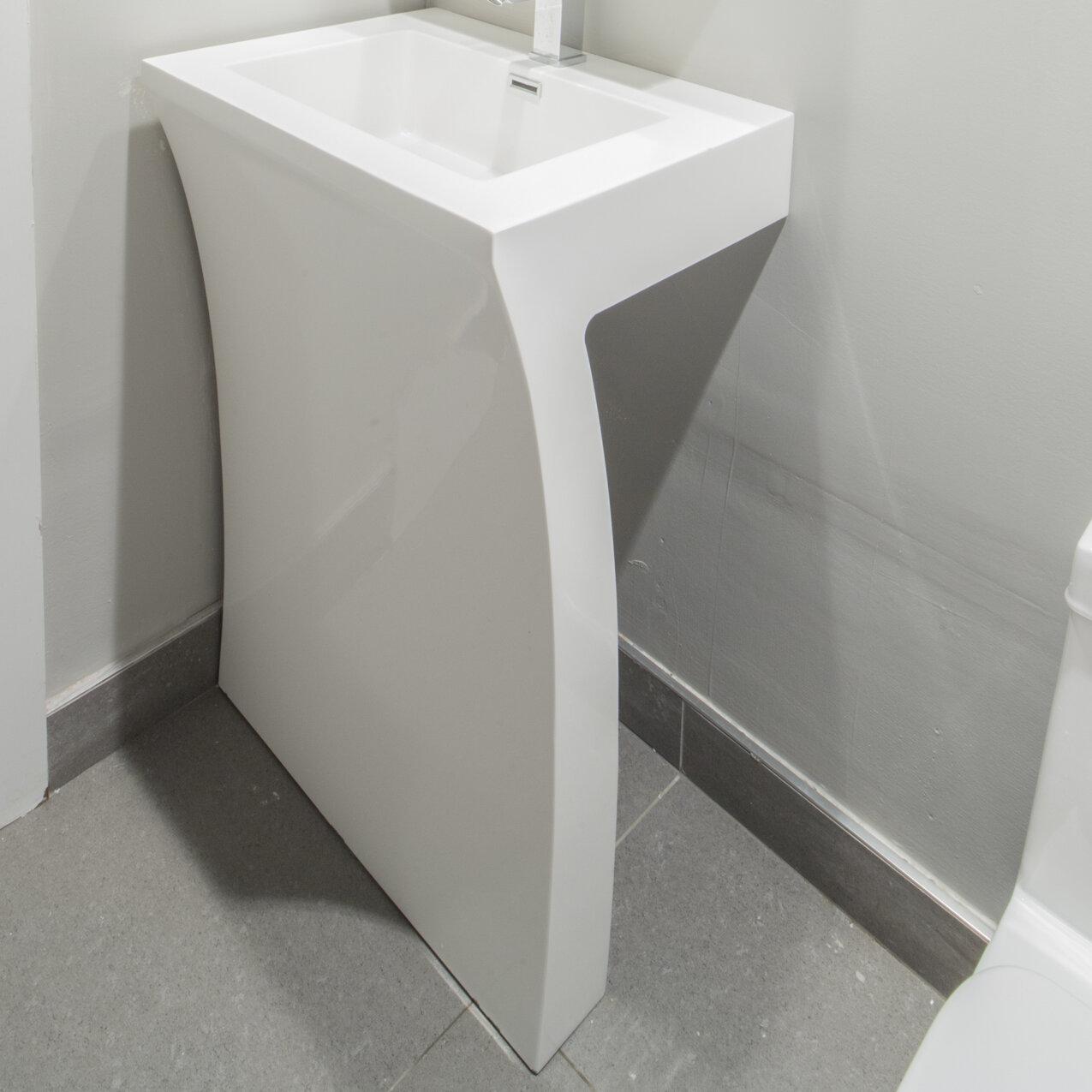 Fine Fixtures Cedar Falls 22pedestal Sink With Overflow Reviews
