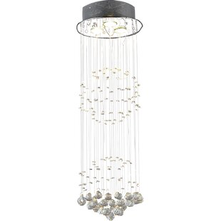 Orb Chandelier With Crystals Wayfair - Orb chandelier with crystals