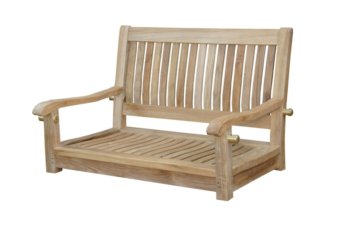 Anderson Teak Del-Amo Straight Swing Teak Garden Bench & Reviews ...