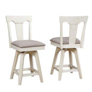 Yvonne Panel Back 29 Swivel Bar Stool (Set of 2)