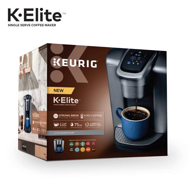 K Elite Single Serve K Cup Pod Coffee Maker Reviews Joss Main